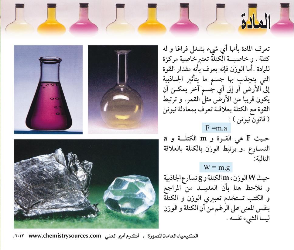 الكيمياء العامة المصورة أكرم العلي صفحة 1