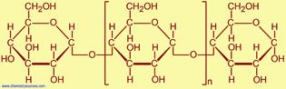 الجزيء : مثال على الجزيء الكبير : النشا