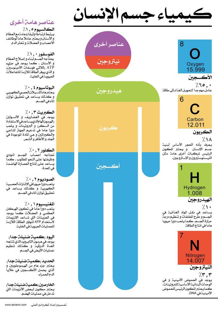 كيمياء جسم الإنسان (لوحة حجم كبير قابلة للتنزيل)