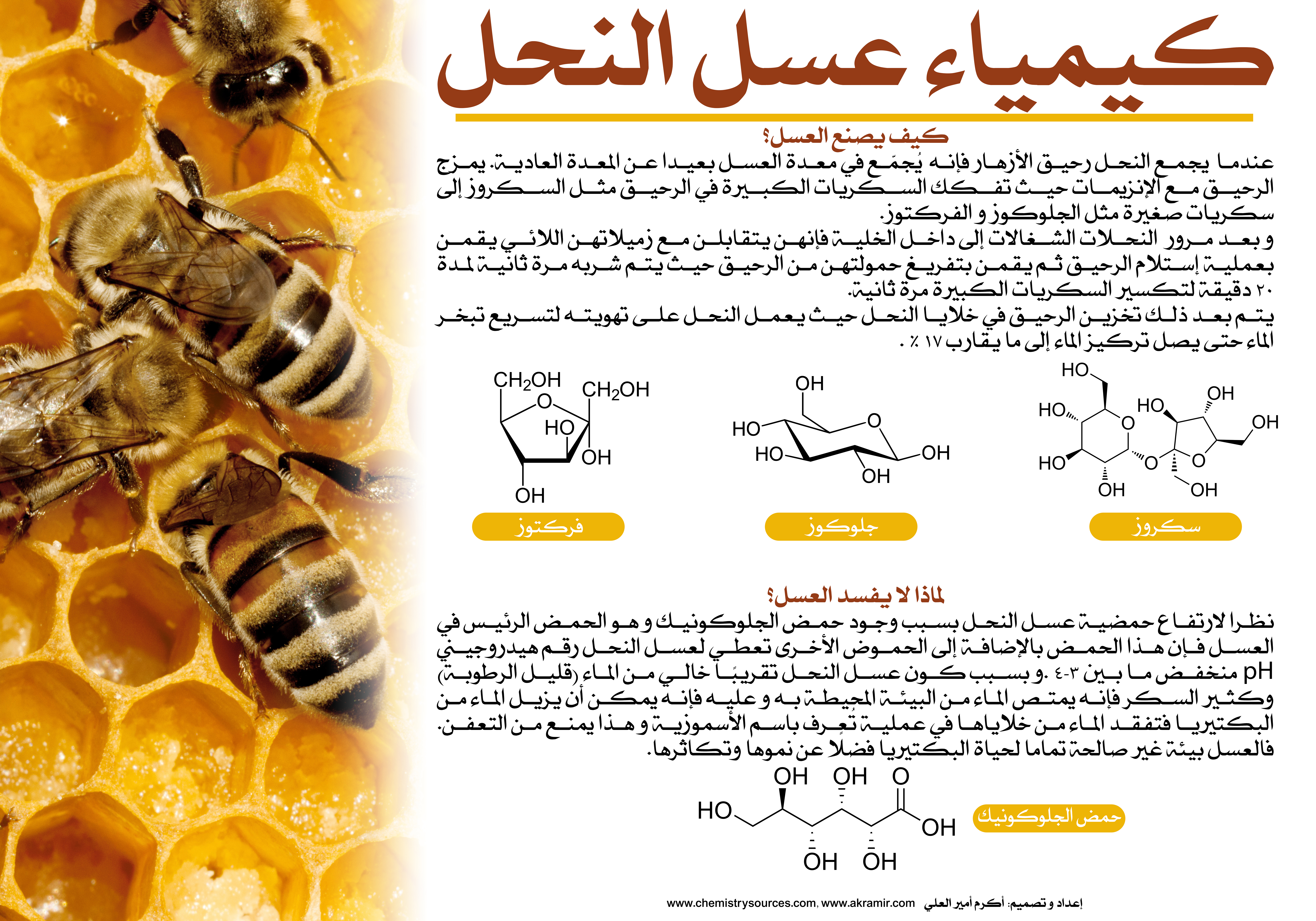 لوحات (بوسترات) كيميائية (8) -  كيمياء عسل النحل