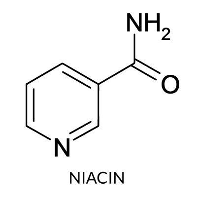 فيتامين ب3 ( B3 ) النياسين Niacin أو حامض النيكوتينيك  Nicotinic Acid