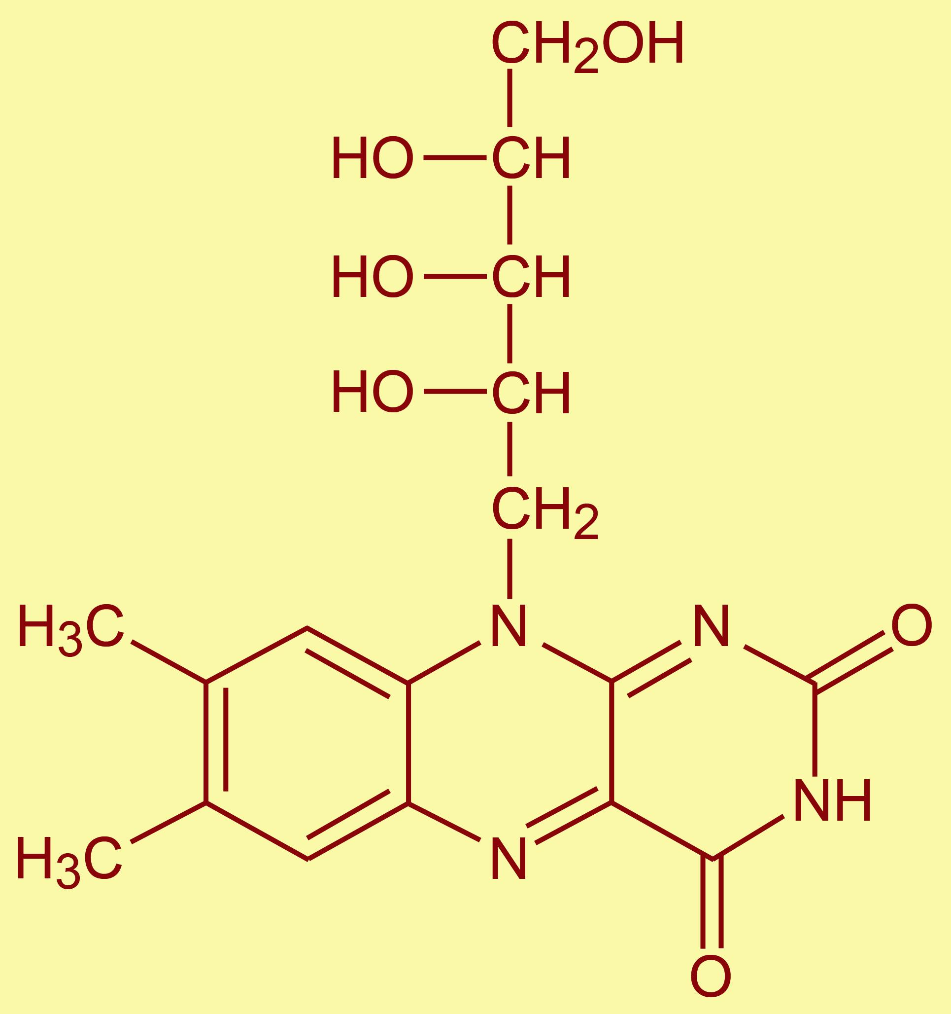 فيتامين ب2 (B2) الريبوفلافين RIBOFLAVIN