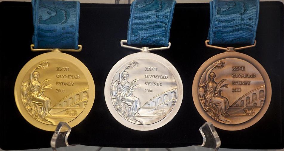 المعادن التي تدخل في صناعة الميداليات الأولمبية