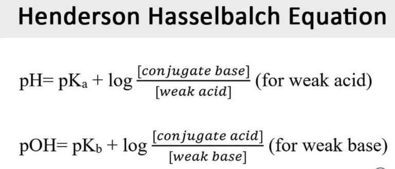 معادلة هندرسون-هازلباخ Henderson Hasselbach Equation