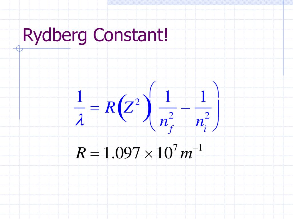 ثابت ريدبرج Rydberg constant