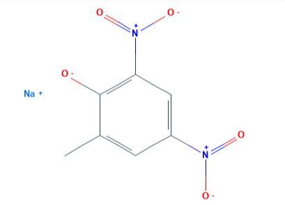 ثنائي نيترو-أورثو-كريسولات الصوديوم Sodium Dinitro-o-Cresolate  CH3C6H2(NO2)2ONa