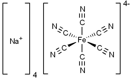 حديدوسيانيد الصوديوم Sodium Ferrocyanide